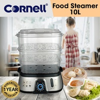 Cornell 3 Tier Electric Food Steamer 10L Capacity (1 Year Warranty) CS-202