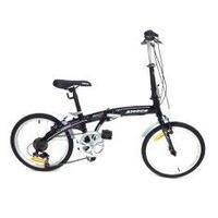 ALEOCA จักรยานพับได้ Alloy รุ่น Specifiche  ล้อ 20 นิ้ว, 6 Speed (สีดำ) พร้อมไฟท้าย