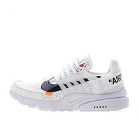 Off-White x Nike Air Presto Ow Virgil Abloh Men's Running Shoes Breathable Sports Sneakers (White/Black)