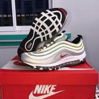 Nike Air Max 97 Silver สีเทา สินค้าพร้อมกล่อง ส่งฟรีมีเงินเก็บปลายทาง