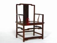 【傢俱模型-南官帽椅-8.7*7.5*16.2cm-比例1:8-1款/組】紅酸枝 中國風明式傢俱古樸擺件禮物家居飾品 家鄉記憶-38007