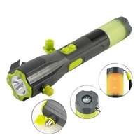 XANES XLN-703B Hand Cranking USB Rechargeable Multi-functional Car Emergency Flashlight & Safety Hammer & Powerbank