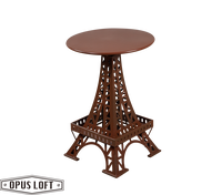 復古工業風 巴黎鐵塔 升降 圓桌