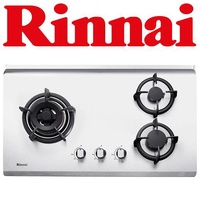 RINNAI RB-73TS 3-BURNER STAINLESS STEEL HOB