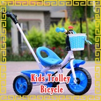 Children Trolley Bicycle push pram scooter electric rechargeable tricycle 3 wheel kids child walker