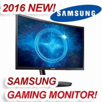 [2016 NEW/144Hz GAMING!] SAMSUNG 144hz Gaming Monitor C24FG70 24inch Curved Gaming monitor with the super-fast response time and vibrant colors - 2016 NEW! HOT!