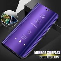 Vivo V7+/Y79 Y69 Y71 Case Stand Auto Sleep Transparent View Flip Mirror Phone Casing case Vivo