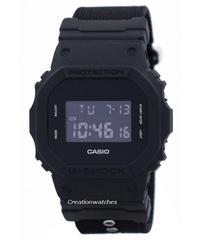 Casio Digital Shock Resistant Alarm Men's Black Resin Buckle Clasp Watch DW-5600BBN-1