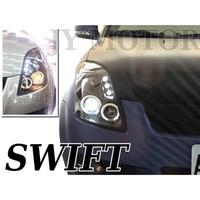 小傑車燈--全新高品質 SWIFT  黑框版 雙光圈 魚眼 大燈 一組3800