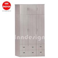 Mika 6 Doors W/ 4 Drawers Wardrobe/Open Wardrobe