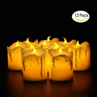 sengshen LED Lights Candles, Flameless Candles LED Candles, Flickering Tealight Candles, Warm White, Pack Of 12
