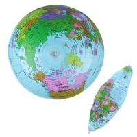 IPRee 40 เซนติเมตรพองแผนที่โลกลูกบอลชายหาดสอนการศึกษาลูกบอลแผนที่โลก
