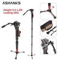 JIEYANG JY-0506 Aluminum Professional Monopod  Video tripod for camera  with Tripods Head Carry Bag