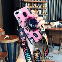 Blu-ray camera Kickstand Phone Case For OPPO R9 R9S R11 R11S Plus Silicone Cute Camera Stand Holder