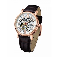 ARBUTUS CLASSIC SKELETON AUTOMATIC AR911RWF STAINLESS STEEL ROSE GOLD MENS WATCH