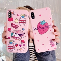 Soft Case OPPO Reno F11 F9 Pro A7 A5s A3s A83 F1s F5 A57 A39 A3 R9s R9 F1 F3 Plus Cute Strawberry Sandwich