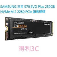 SAMSUNG 三星 970 EVO Plus 250GB NVMe M.2 2280 PCIe 固態硬碟