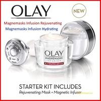 Olay Magnemasks Infusion Rejuvenating / Whitening - Magnetic Infuser Starter Kit 50g Sheet Masks 5pc