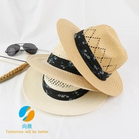Sun hat male summer straw hat cowboy hat hat sun hat UV protection beach hat sunscreen
