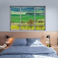 3D Fake Window Farmland Landscape Wall Sticker Paper Decal Decoration