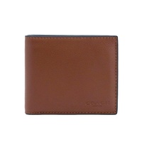 NEW ARRIVAL Coach Mens Compact ID Wallet In Sport Calf Leather (F74991) With Coach Gift Box