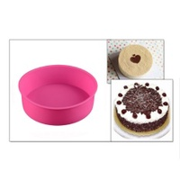 VANDER LIFE Silicone Round Cake Mold Cupcake Pastry Shaper Cake Bread Mould Home Kitchen Bakery Baking Pan DIY Cake Tools Bakeware - intl