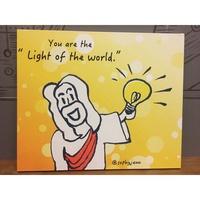 你是世上的光 無框畫(100cm*80cm)掛畫/複製畫/藝術品/圖畫/無框畫 基督教禮品 蘇妃小鋪