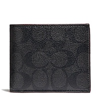 NEW ARRIVAL Coach Mens Compact ID Wallet Multiple Designs Available With Coach Gift Box