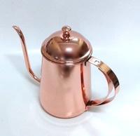 晴天咖啡☼ 玫瑰金不鏽鋼細口壺 400ml 電磁爐可用 咖啡手沖壺 Guifeng