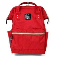 Anello นำเข้าจากญี่ปุ่น Japan Imported Anello Canvas Unisex Backpack - Red