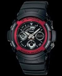 Casio G-Shock AW-591-4A Black & Red
