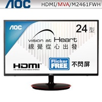 【捷修電腦。士林】AOC M2461FWH 24型MVA寬螢幕