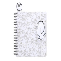 We Bare Bears Ice Bear Plush Notebook with Bookmark