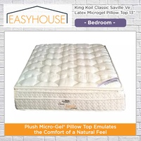 King Koil Classic Saville Ve Latex Microgel Pillow Top 13″ | Bedroom | Available in 4 Mattress Sizes