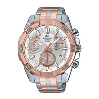 Casio Edifice Standard Chronograph Pink Gold Ion Plated Two-tone Stainless Steel Band Watch EFR559SG-7A EFR-559SG-7A