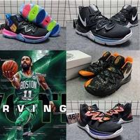 NBA Kyrie Irving  歐文 厄文籃球鞋歐文5代籃球鞋男 首發黑橙Kyr