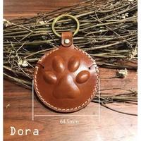 gogoro gogoro 2 gogoro S鑰匙皮套 鑰匙圈 鑰匙套(歐洲進口多脂植鞣革_栗子咖狗掌造型)