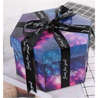 DIY Explosion Box Surprise Boxing Scrapbooking Photo Album with Kit for Valentine's Day Wedding Birthday New Year Gift Box