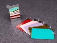 【德愛走跳】日雜附錄  六色可選  COACH 不鏽鋼拉絲名片化妝鏡隨身鏡
