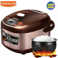 Joyoung JYF-40FS609 Smart Multi-cooker/Rice Cooker/Maker & Steamer & Slow Cooker, Smart Rice Cooker Booking Home Honeycomb Liner for Microcomputer Type Rice Cooker (Brown + 4L)