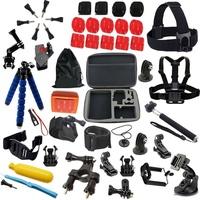 Big size bag tripod monopod for gopro accessories set kitforgopromount Go pro hero3 Black Edition sj4000 sj5000 xiaoyi mi