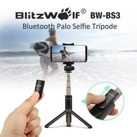 BlitzWolf BW-BS3 Versatile 3 in 1 Bluetooth Monopod Mini Extendable Folding Tripod Selfie Sticks Rem
