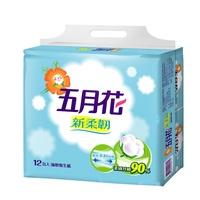 【折扣碼現折】五月花新柔韌抽取式衛生紙110抽x12包x6袋