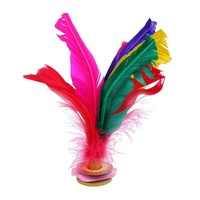 (Free Shipping for WM - Klang Valley,WM - Non Klang Valley,EM - Sabah)SCIOLTO SPORTS Colorful Feather Jianzi Foot Sports Toy Game Kick Shuttlecock Indoor/Outdoor