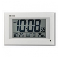 Seiko QHL077WN Digital LCD Wall Clock