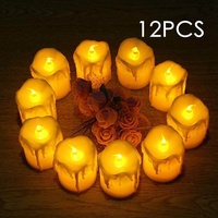 OXOQO LED Tea Lights Candles,Flameless Candles Operated LED Candles, Flickering Tealight Candles, Warm White, Pack Of 12