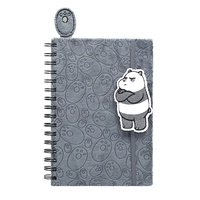 We Bare Bear Panda Plush Notebook with Bookmark