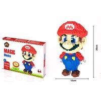 【現貨】-超級瑪莉積木 鑽石積木 瑪莉兄弟 瑪莉歐 樂高 玩具 親子 遊戲 卡通