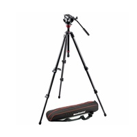 Manfrotto MVH500AH Fluid Head & 755CX3 MagFibre Tripod with Carrying Bag(Black)