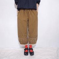 。error dot。日本維尼蜂蜜罐格紋布蕾絲繡花寬褲